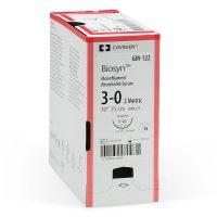 biosyn 555 200x200 - SM-691 Биосин 4/0, 75 см, неокрашенный Обр.-реж. 19 мм, 3/8 уп./36 шт.
