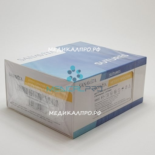 catgut sanavita 888 510x510 - SCG40G17C КЕТГУТ простой 4/0 (№2), 75 см Кол. 17 мм, 1/2 уп./36 шт.