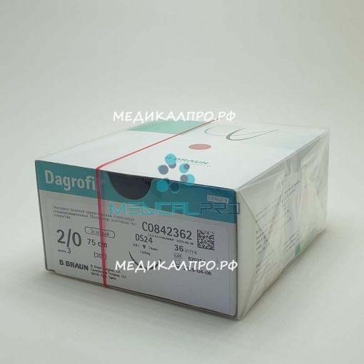 darrofil 888 510x510 - C0840467 Дагрофил зелёный 3/0 (2) 75 см HR30 колющая, 1/2 окр, 30 мм уп./36 шт.