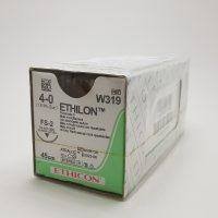 ethilon555 1 200x200 - W319 Этилон 4/0, 45 см, синий Обр.-реж. 19 мм, 3/8 уп./12 шт.