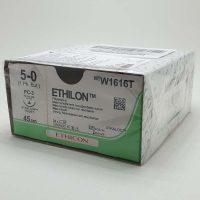 ethilon w1616t 888 200x200 - W1616T Этилон 5/0, 45 см, синий Прайм реж. 16 мм, 3/8 уп./24 шт.