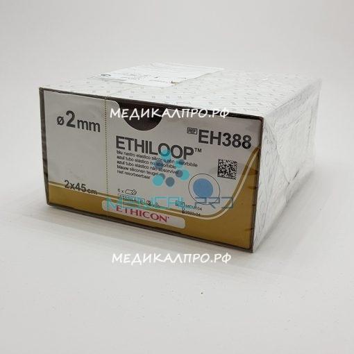 ethiloop555 510x510 - EH383E Этилуп силиконовая петля 2 х 45 см, диаметр 1.3 мм, красная уп./24 шт.