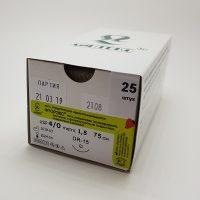 ftoreks 555 200x200 - Фторэкс плетёный белый 75см 0 (3,5) с 1 реж. иглой 25,30,35,40 мм уп./20 шт.