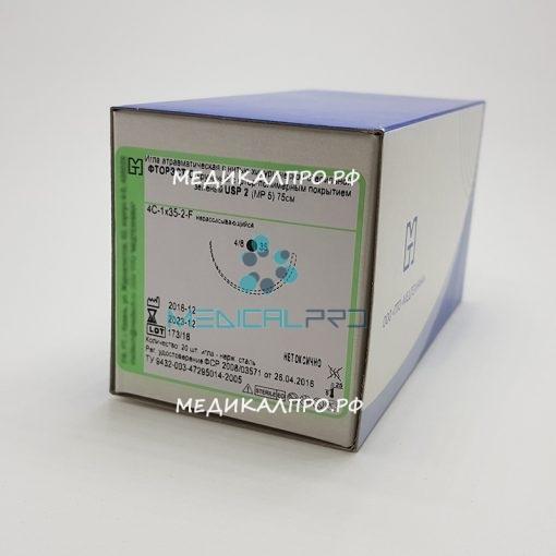 ftorests mt555 510x510 - Фторэст-С полиэфир кручёный с фторполимерным покрытием 75см 3 (6) с 1 иглой 35,40,45,50мм уп./20 шт.