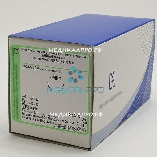 lavsa plet mt555 510x510 - Лавсан полиэфир плетёный 75см 4/0 (1,5) без иглы уп./20 шт.