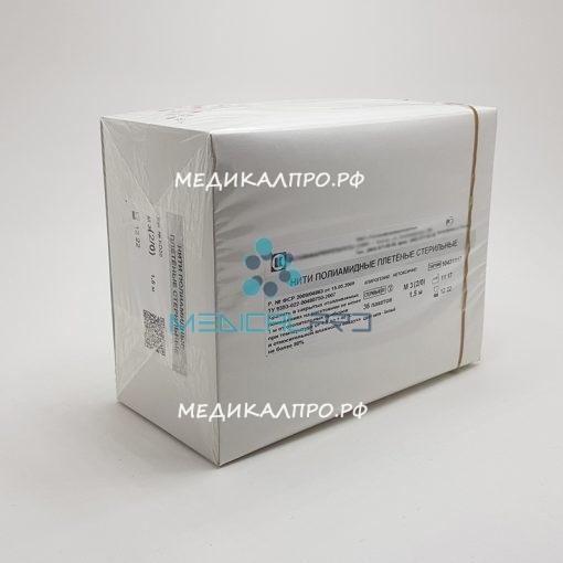 poliamid tat 555 510x510 - Капрон (полиамид) плетёный стерильный в полимерной упаковке 75 см (3) 2/0 с атравматической иглой уп./12 шт.