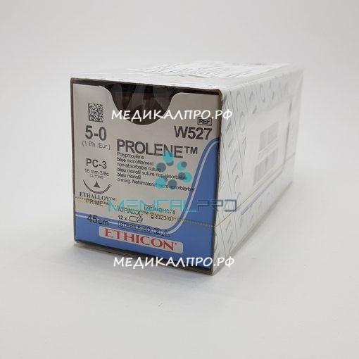 prolen555 510x510 - W2777 Пролен 8/0, 45 см, синий Кол. 6,5 мм х 2, 3/8 уп./12 шт.