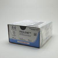 prolen 36 888 200x200 - 8741H Пролен 8/0, 60 см, синий Кол. 8 мм х 2, 3/8 уп./36 шт.