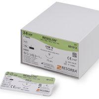 resolon resorba555 200x200 - 881410 Резолон 4/0 (1,5) 75 см DS 21 Реж. 21 мм, 3/8 уп./36 шт.