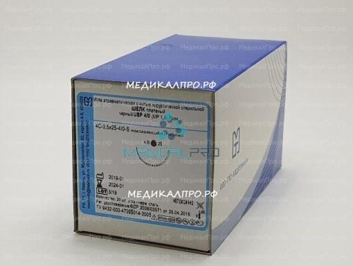 silk m 7 510x384 - Шёлк плетёный 45см 7/0 (0,5) для офтальмологии с 2 иглами 6.5мм уп./20 шт.