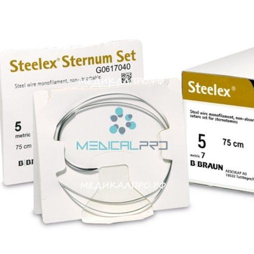 "steelex555 510x510 - G0617814 Стилекс ""STERNUM SET"" 6 4X45 см HRS48 колющая, 1/2 окр, 48 мм, таперкат уп./12 шт."