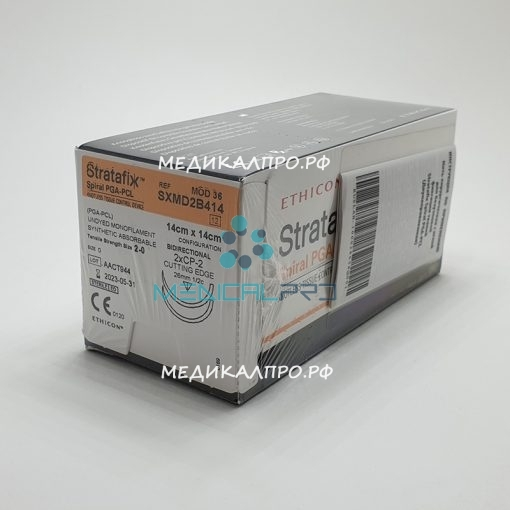 stratafix pga 888 510x510 - SXMD2B404 Стратафикс Stratafix Spiral PGA-PCL 3/0, двунаправл.7+7см, н/окр. Обр.-реж. 19 мм х 2, 3/8 уп./12 шт.