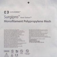 surgipro mesh555 200x200 - SPMM-66 Сетка Сургипро меш, монофиламентный полипропилен, 15х15 см, 1шт. уп./3 шт.